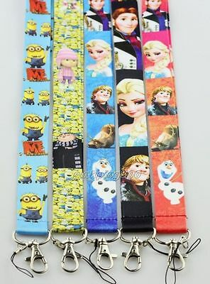 Lot Mixed Popular Princess Mobile Cell Phone Lanyard Neck Straps Party Gifts E23