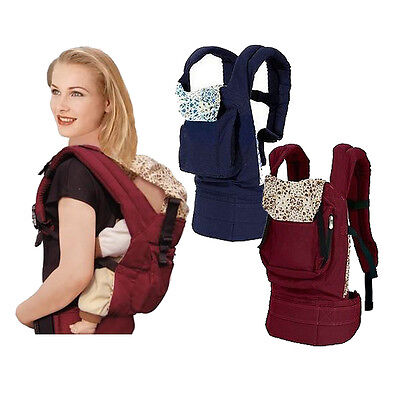 Adjustable Front & Back Baby Carrier Infant Comfort Backpack Sling Wrap Harness