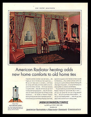 Original 1930 American Radiator & Standard Corp Vintage Advertising Art Print Ad