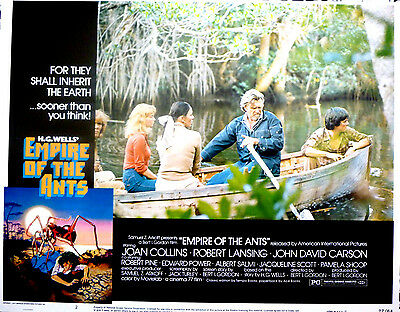 EMPIRE OF THE ANTS 1977 Sci-Fi Horror Lobby Card #2 JOAN COLLINS ROBERT PINE