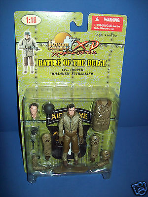 ULTIMATE SOLDIER 1:18 BATTLE OF BULGE WWII FIGURE CPL COOPER WHAMMER SUTHERLAND