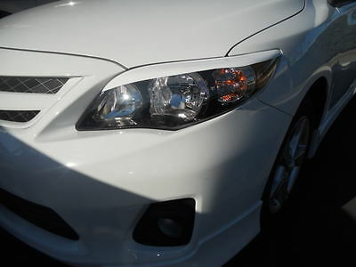 2011 Corolla head light Eyelids -Pre-cut White vehicle graphic overlays 8 colors