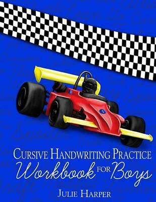 Cursive Handwriting Practice Workbook for Boys by Julie Harper (English) Paperba