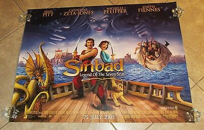 SINBAD LEGEND OF THE SEVEN SEAS movie poster ANIMATION