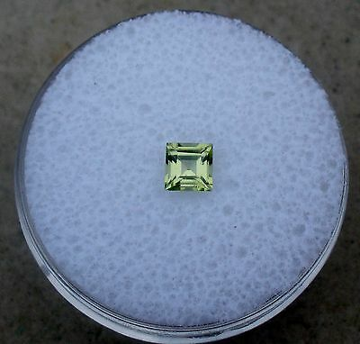Peridot Square Loose Natural Gem 4mm