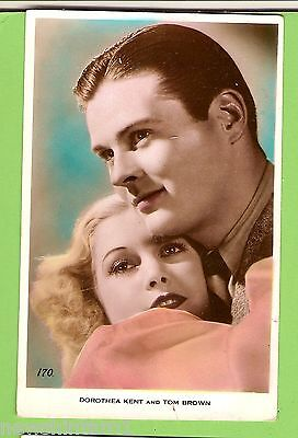 #F.  Movie Fan  Postcard -  Dorothea Kent & Tom Brown