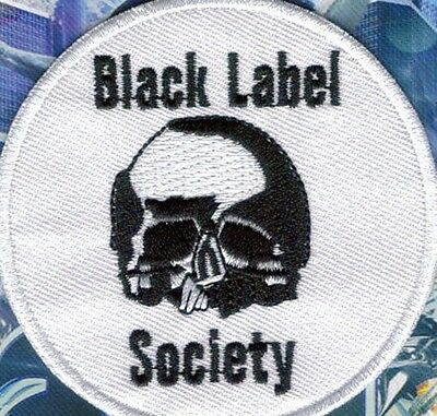 Black Label Society Skull White Embroidered Patch !