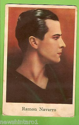 #F.  1927  Movie Fan  Card - Ramon Navarro, Girls' Friend Magazine