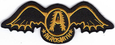 Aerosmith Gold Wings Embroidered Patch !