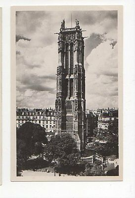 Paris La Tour St Jacques RP Postcard France 0754