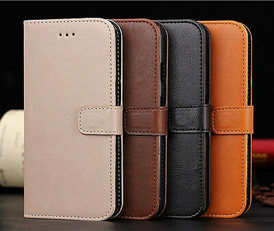 Luxury Genuine Leather Case Flip Stand Wallet Cover For Various Mobile Phones