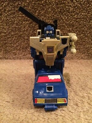 Vintage G1 Transformer Duocon BATTLETRAP 100% Jeep Helicopter & Weapon