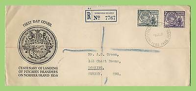 Norfolk Island 1956 Landing of Pitcairners registered First Day Cover