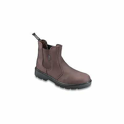 1 X Contractor Brown Dealer Safety Boots Size 9 Workwear Garage Warehouse Safe