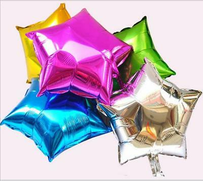 10x Hot Holidays Party Home Supply Five-pointed Star Nitrogen Foil Balloon Z