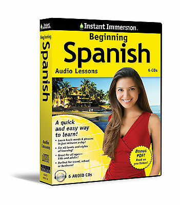 New 6 CD Beginning SPANISH Language + Transcripts (Learn in Your Car)