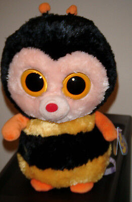 """Ty Beanie Boos ~ STING the 9"""" Bumblebee Medium Buddy ~ MINT with MINT TAGS"""