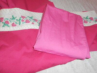Vintage  Lady Pepperell   FULL FLAT SHEET-81x 96  &ROYALE pillow case