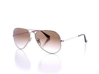 New Authentic Ray-Ban RB 3025 Aviator Sunglasses 001/51 58MM Gold/Brown Gradient