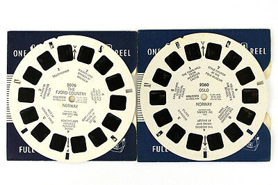 Lot of 2: View-Master Olso Fjord Country Norway Typeset Belgian Reels #2060-2076