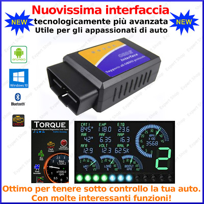 Mini Interfaccia Diagnosi Obd2 Auto Bluetooth Canbus Android Tablet Phone Torque