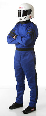 Medium Tall Blue Single Layer 1pc Race Driving Fire Safety Suit SFI 3.2A/1 Rated
