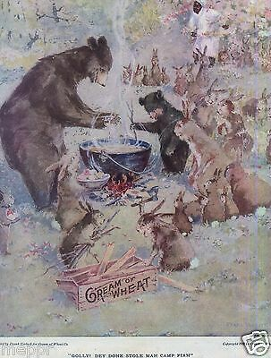 1912 CREAM of WHEAT Advertising painted by  FRANK vERBECK
