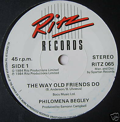 PHILOMENA BEGLEY - The Way Old Friends Do - Ex Con 7""