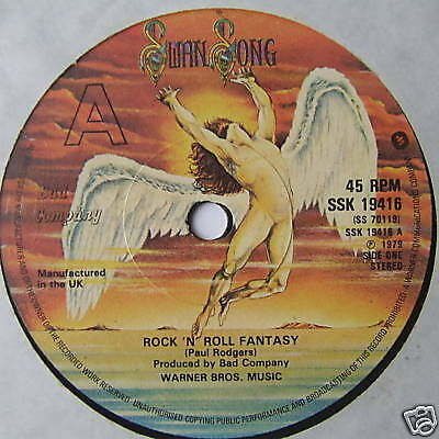 "BAD COMPANY - Rock n Roll Fantasy - Ex Con 7"" Single"