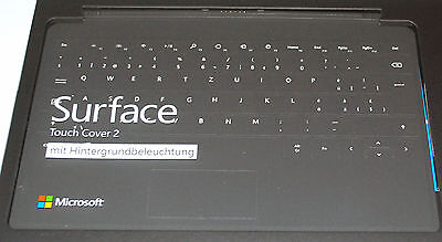 Microsoft Surface Touch Cover 2 Tastatur für Surface Pro Surface PRO2 QWERTZ