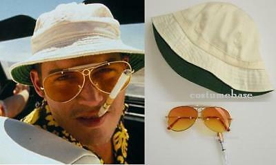 Fear and Loathing in Las Vegas Costume Hunter Thompson Hat + Holder + Sunglasses