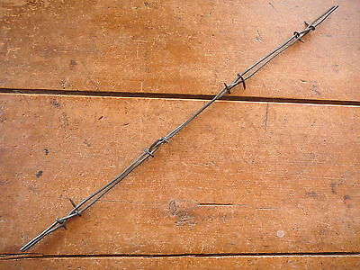 NADELHOFFER'S CROSSOVER BARB  on PARALLEL LINES   - ANTIQUE BARBED BARB BOB WIRE