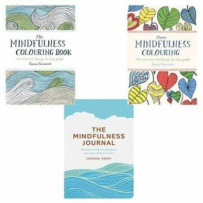 Mindfulness Colouring Book and Journal Collection 3 Books Set NEW