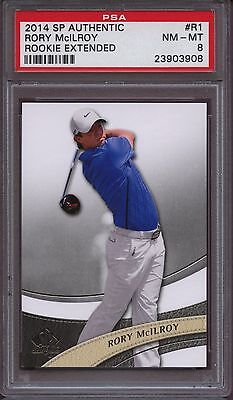 2014 SP Authentic Rookie Extended R1 Rory McIlroy Nm-Mint PSA 8 RC Rookie