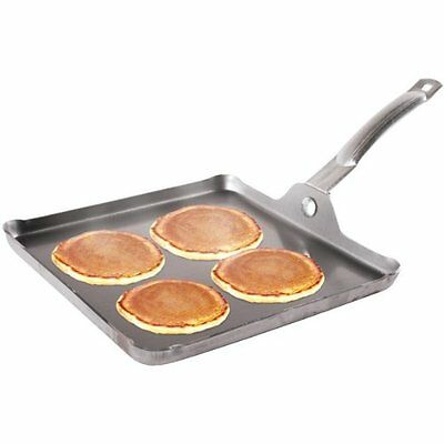 """Stansport Commercial-grade Square Griddle - 11"""" X 11"""" - 11"""" Length X 11"""" Width"""