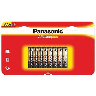 Panasonic LR03PA/16BH 16pk Aaa Alkaline Plus Battery Supl Long Lasting Power For