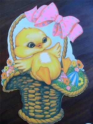 Vtg 12 inch DUCKLING Duck DIE CUT PAPER EASTER Decoration NEW UNUSED NOS Beistle