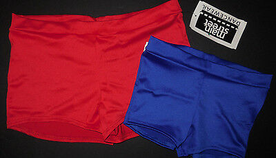 NWT Boy Cut Trunks Booty Shorts 4 Color Choices Red, Blue,Plum,Black Adult/Child