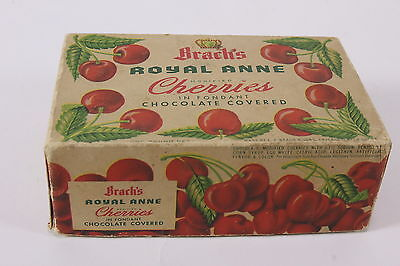 Vtg Brachs Royal Anne Cherries Empty Box In Fondant Chocolate Covered Advertiser