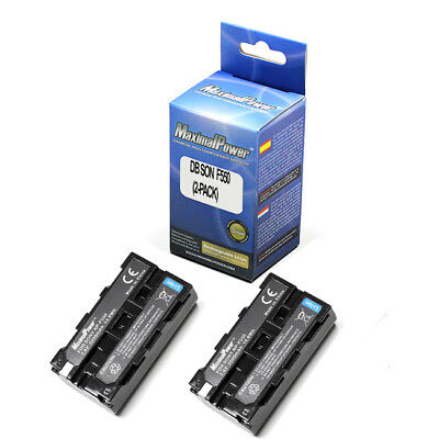 Pack of 2 BATTERIES for Neewer CN-160 LED Video Light Sony NP-F550 BATTERY X2