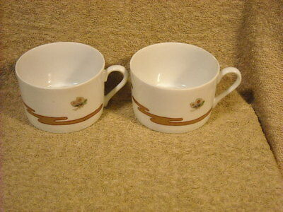 """set of (2) Fitz & Floyd """"Fleur Et Nuages"""" Cups ONLY Butterfly"""