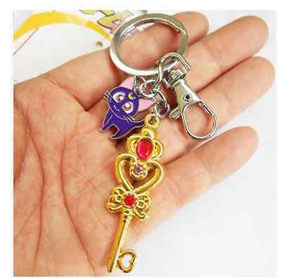 Sailor moon  Luna Cat Anime Keychain Key Ring Pendant Cool Hot