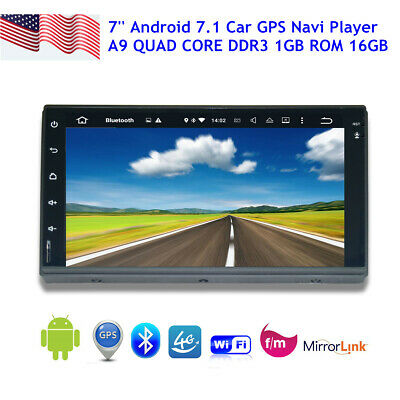 """Double 2 Din GPS 7"""" Car DVD CD Player Touch Screen In Dash Stereo Radio+Camera"""