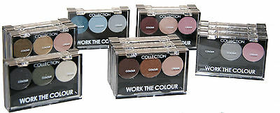 12 x Collection Work the Colour Trio Eyeshadow | RRP £38 | Wholesale Clearance
