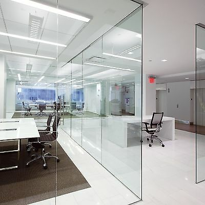 U SHAPED GLASS PARTITION - Just Choose width & ceiling height
