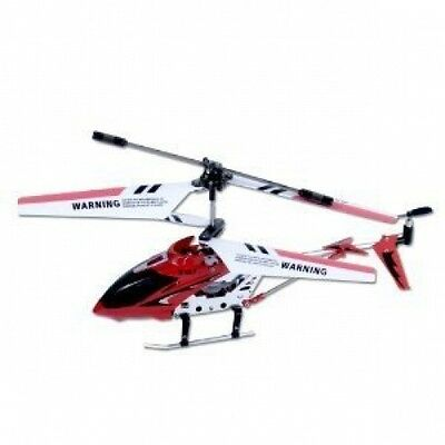 Remote Control Mini Metal RC Helicopter 3 Channel Gyro Smallest & Lightest Red