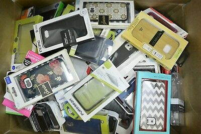 Lot of 100 New Retail Package Assorted Phone Cases for Many Phones over $1000