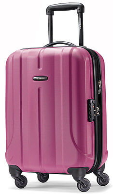 "Samsonite Fiero 20"" Carry On Spinner 4 Wheeled Hardside Upright Luggage - Purple"