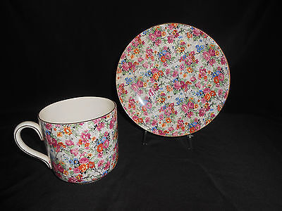 """Lord Nelson """"MARINA"""" Chintz Jumbo Cup & Saucer HARD TO FIND"""
