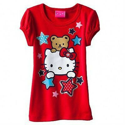NWT t-shirt  ✿FREE SHIP✿ HELLO KITTY New GLITTER   2T  24m PATRIOTIC 4th of July
